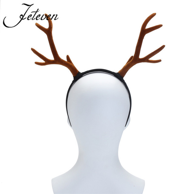 large antlers deer horns hairband headband goth steampunk headdress halloween cosplay hair jewelry accessories