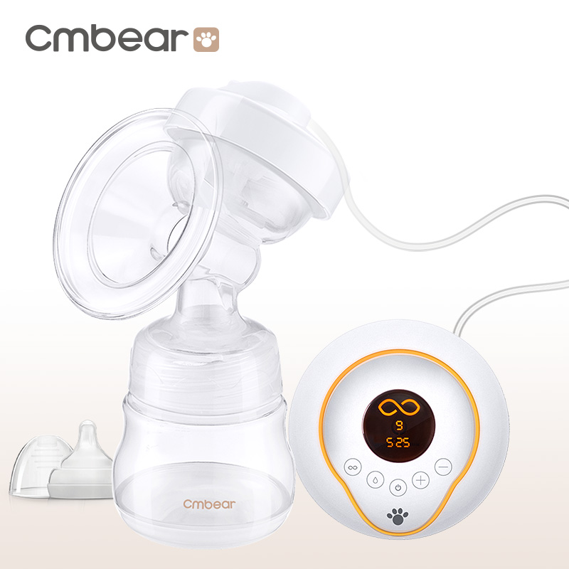 CMbear Official Store Electric Breast Pump BPA Free LED display Chargeable use 160ml Quiet Design