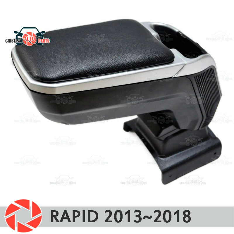 Armrest for Skoda Rapid 2013~2018 car arm rest central console leather storage box ashtray accessories car styling m2