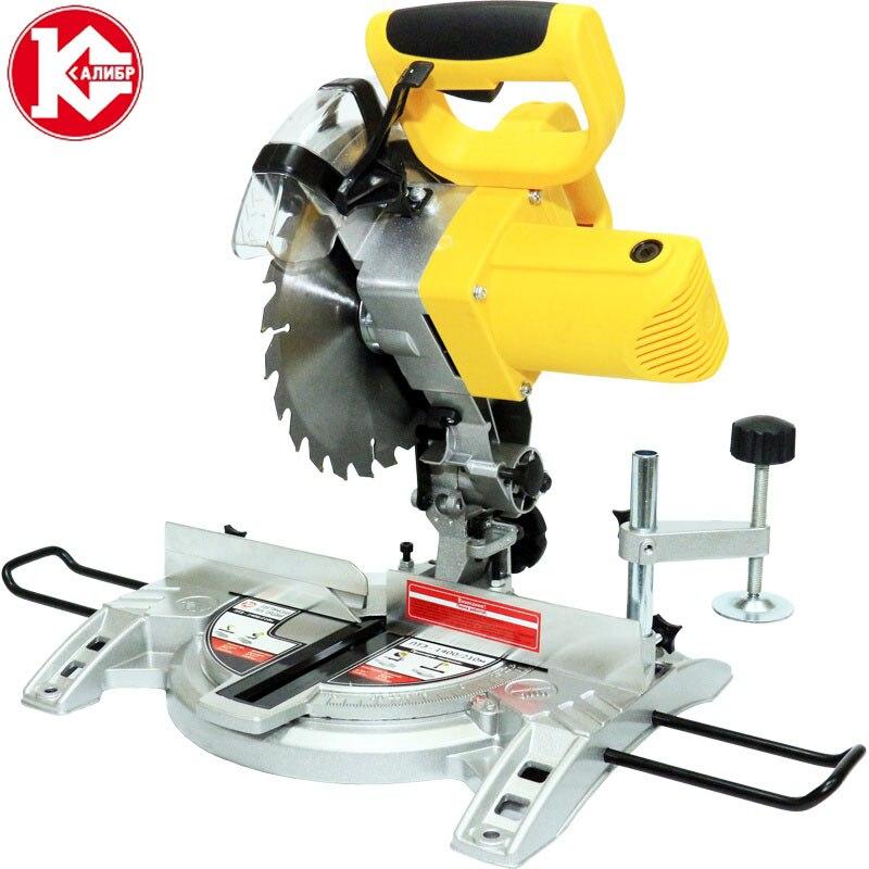 цена на Kalibr PTE-1400/210m Sliding Compound Miter Saw Electric Circular Saw Wood Machine