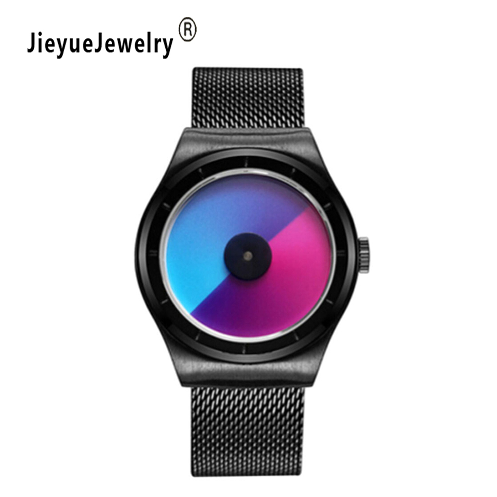 Fashion Casual Retro Rainbow Design Watch Women Men Analog Quartz Watches Clock Relogio Feminino Elegant Wristwatch Female Hour lvpai wathces women relogio feminino elegant dress clock retro design pu leather band analog quartz wrist watch