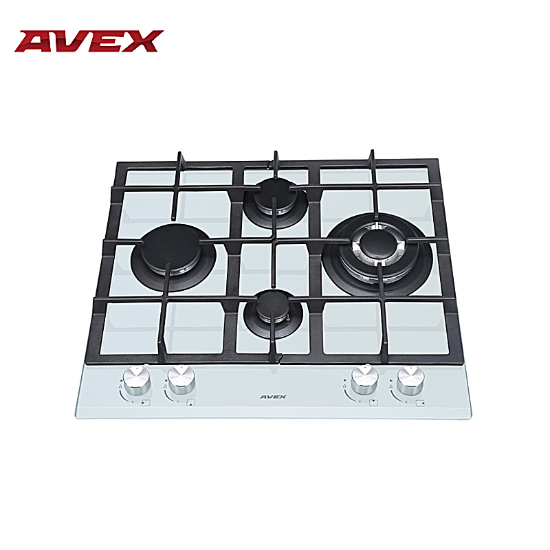Built in Hob gas on glass with cast iron grilles AVEX HM 6045 W new cast iron tattoo machine liner
