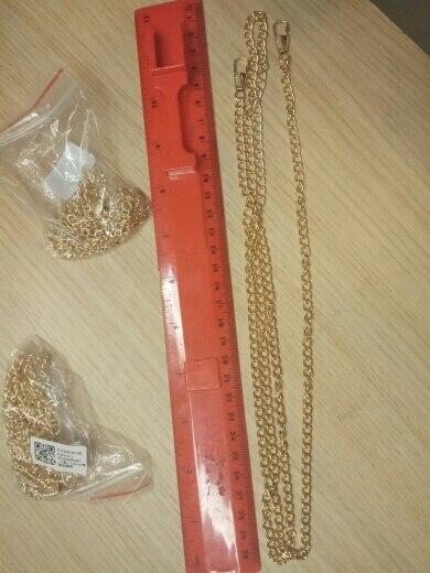 1 pc 120cm Portemonnee Tas Iron Strap Cross body Vervanging DIY Schouder Handtas Handvat Metalen Ketting photo review