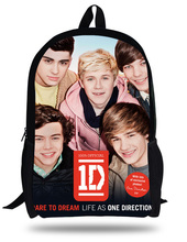 16-inch Kids Bags Boys 1D One Direction School Bags For Teenagers 1D One Direction Backpack Children Girls Mochilas Infantil цена