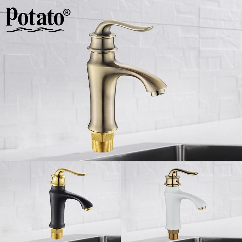 Potato new 4 colors Fashion Style Multi color bathroom basin Faucet Cold and hot water bath