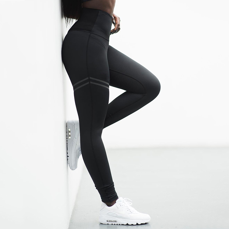 Women High Waist Sports Pants Women's Push Up Polyester Bodybuilding Jeggings Fitness Yoga Leggings