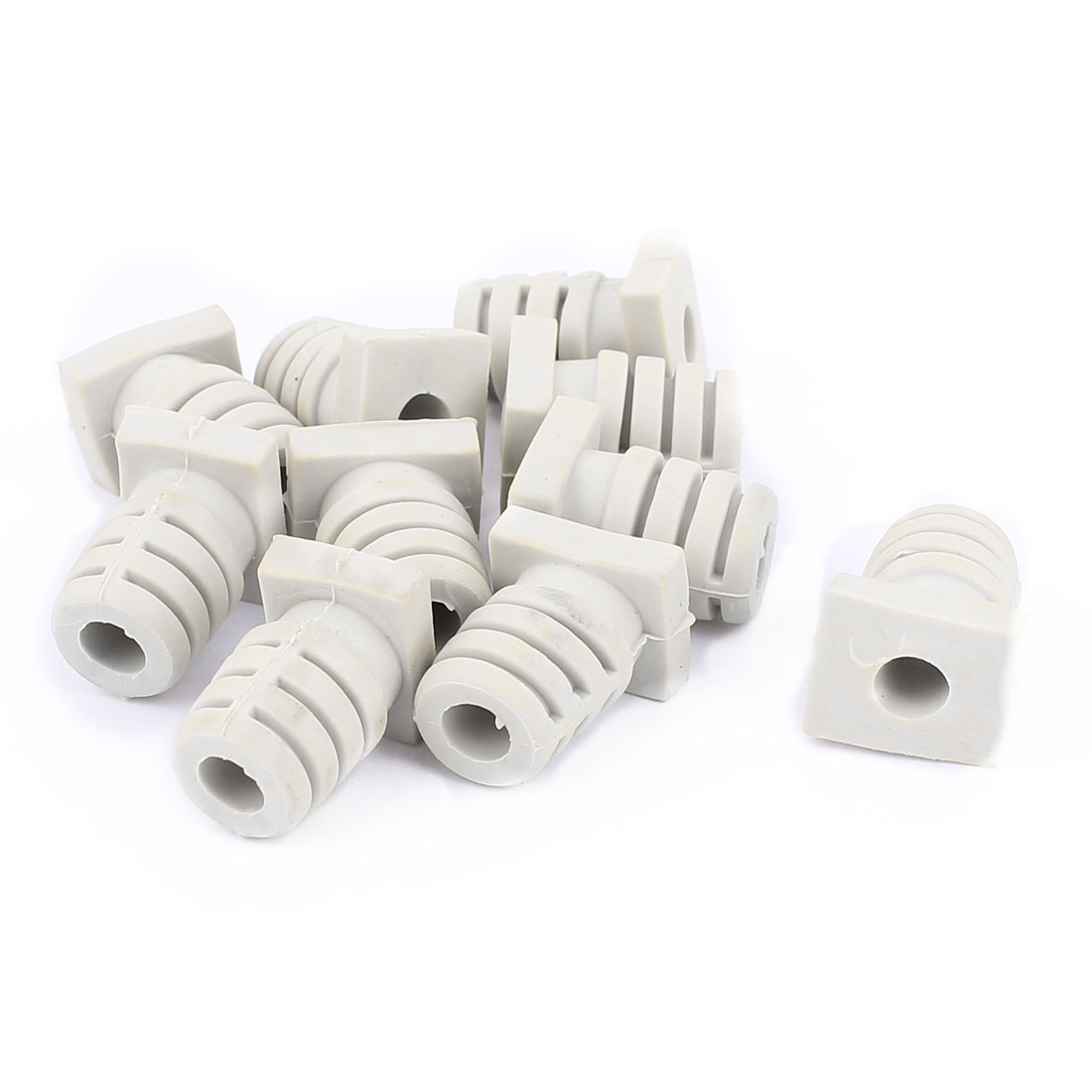 UXCELL 10Pcs 5Mm Inner Dia Rubber Strain Relief Cord Boot Protector Cable Sleeve Beige Boot Wire Cable Sleeves Accessories