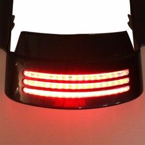 Image 5 - Red Tri Bar LED Rear Tail Brake Fender Tip Light For Harley 14 18 Street Glide&15 18 Road Glide Models