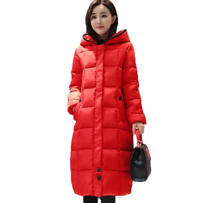 Giacca invernale Inverno E in Autunno Lungo Spesso Parka Giacche Invernali Outwear Solid Donne di Usura di Alta Qualità