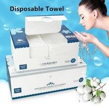 TECHOME хлопковое одноразовое полотенце для путешествий, мягкое очищающее косметическое полотенце, несжатое влажное и сухое полотенце