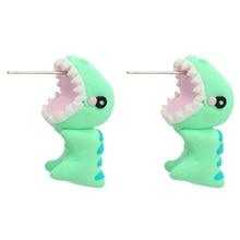 Handmade Polymer Clay Soft Cute Dinosaur Earrings For Women Fashion Animal Piercing Ear Stud Earring Jewelry