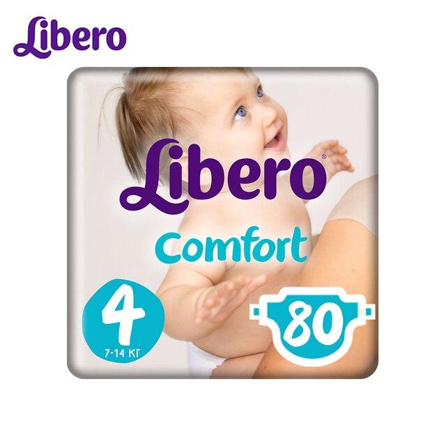 Подгузники Libero Comfort Size 4 (7-14кг), 80 шт.