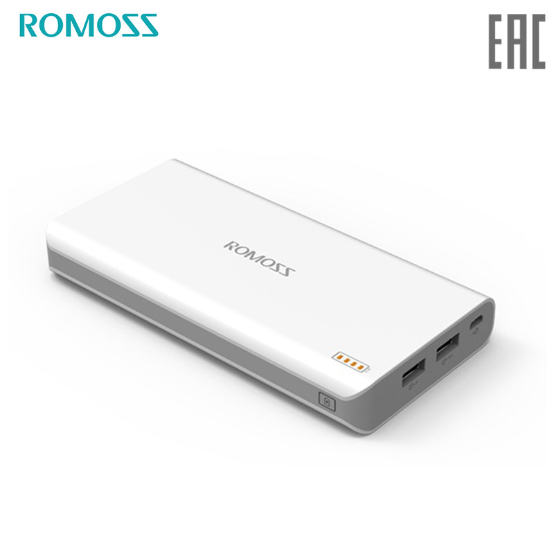 Power bank Romoss Polymos 20 mobile 20000 mAh solar power bank externa bateria portable charger for phone jz 1 6000mah portable li polymer battery power bank w usb cable white