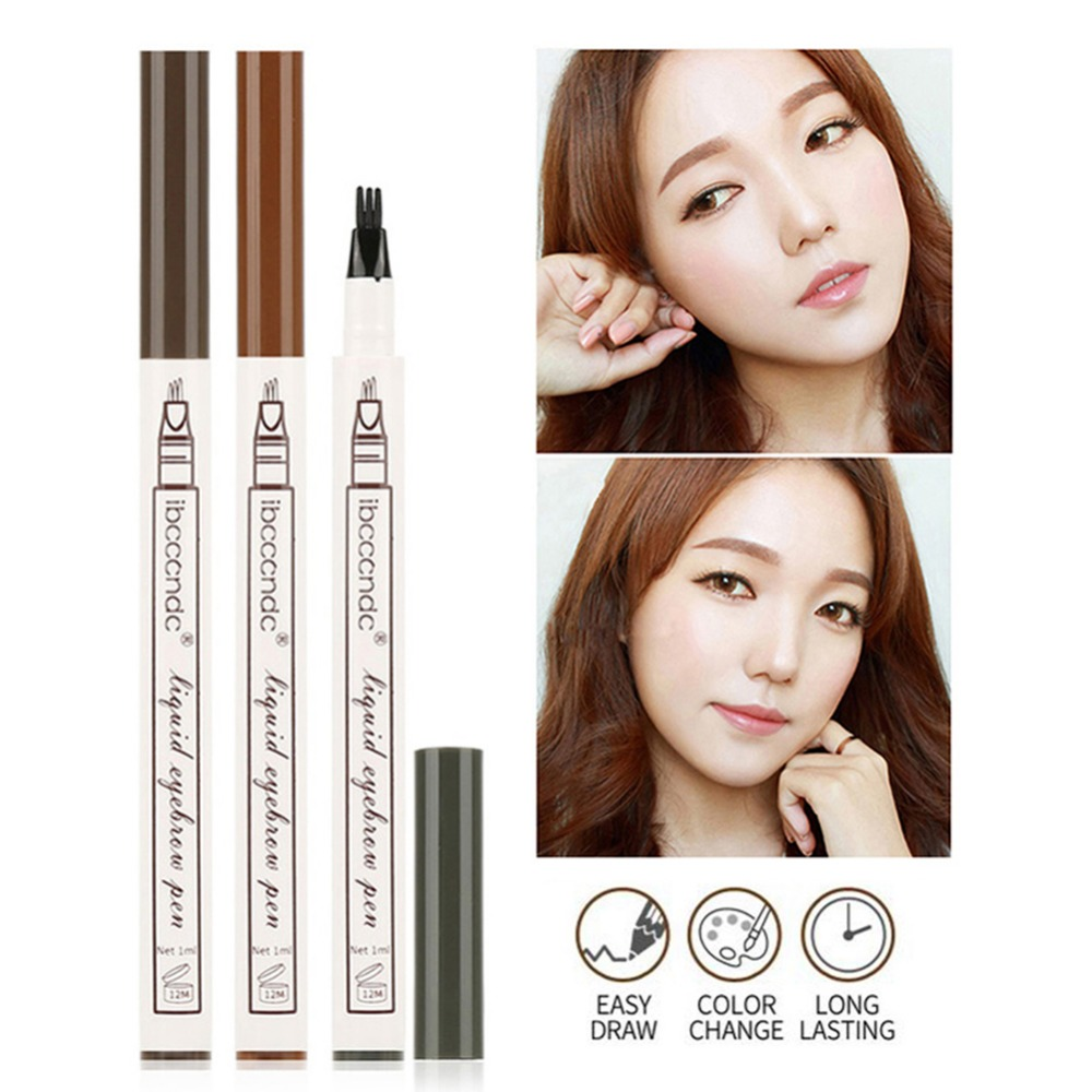 New High-end 3 Color Matte Waterproof Eyebrow Pen Tattoo With Brush Long-lasting Beauty Cosmetics Eyebrow Pencil MakeUp Tools