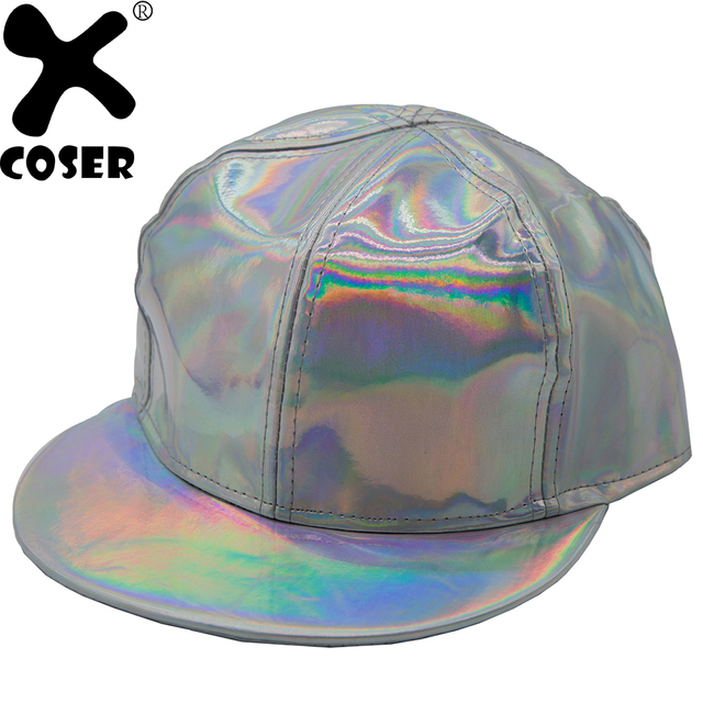 4480740b166 XCOSER Marty McFly Cap Rainbow Hat with Adjustable Buckle Back to the  Future Cosplay Accessory Flexible