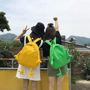 Eva2king podróży żaba pluszowe plecaki płótno dziewczyny torba Sac a dos enfant Mochila infantil zabawki dla dzieci torby kartonowe prezenty
