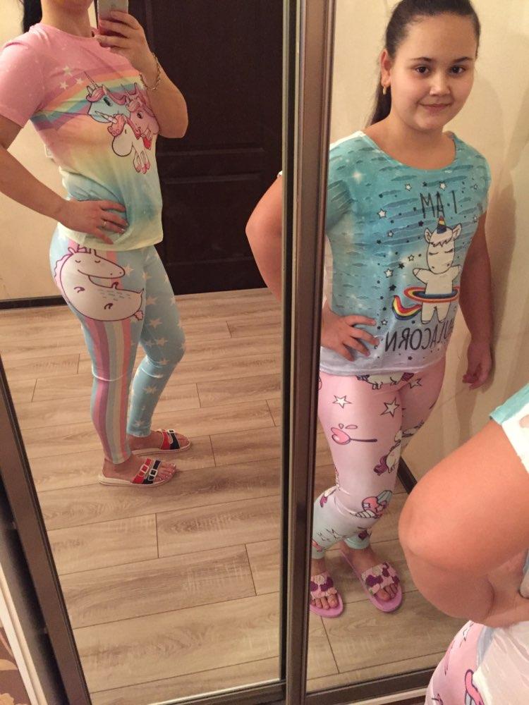 Digital Print Star Rainbow Unicorn Leggings Woman Pants photo review