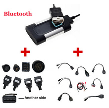 2017 Hot Bluetooth For Autocom CDP Pro Diagnostic 3 in 1 for Cars & Trucks Plus Full set Car & Truck Cables-DHL Free Shipping