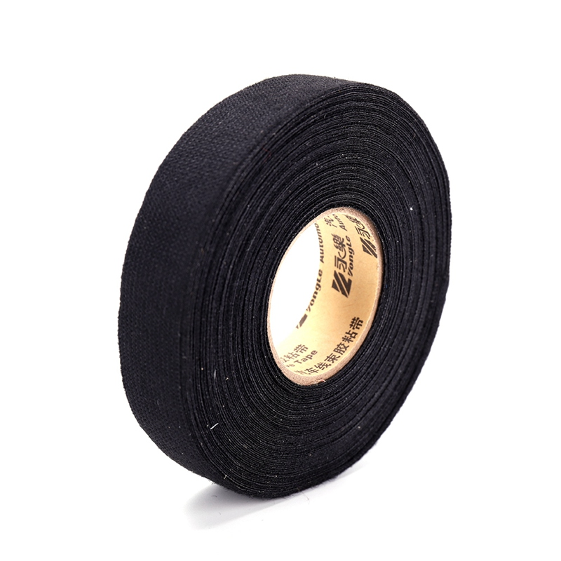 19mm*20m Universal fabric Cloth Tape automotive wiring harness Black Flannel Car Anti Self Adhesive Felt Tape