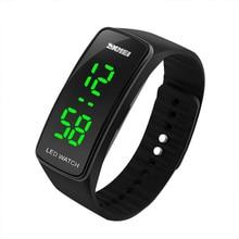 СВЕТОДИОДНЫЙ цифровой Для мужчин Для женщин Повседневное силиконовой лентой Дата спортивные наручные часы браслет подарок
