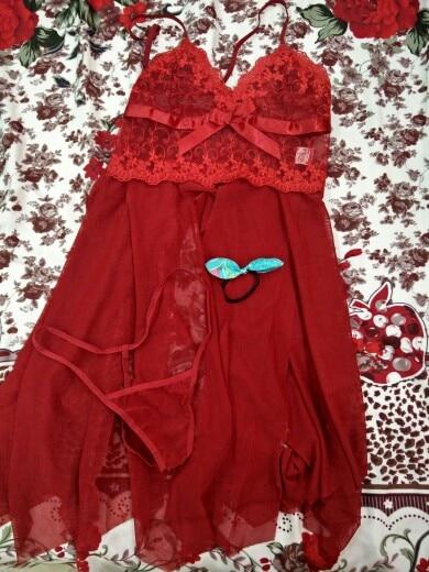 d7a4f4621 Women Nightgown Hot Nightwear Sexy Lingerie Lace Slits Nightdress V ...