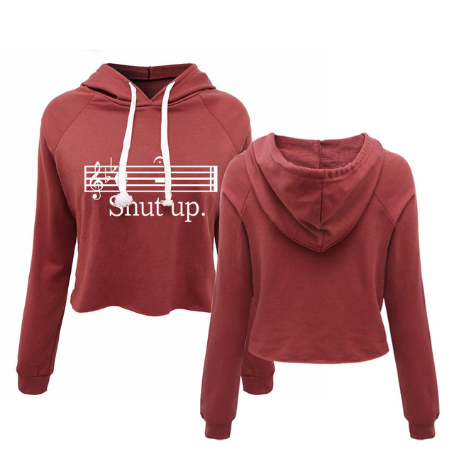 Marching Top Women's Music Up Band Us18 Piano Ladies 39 Shut Guitar Crop 20OffBuy Cropped Hoodie Sexy Notes Drumline Tumblr exoBrWCd