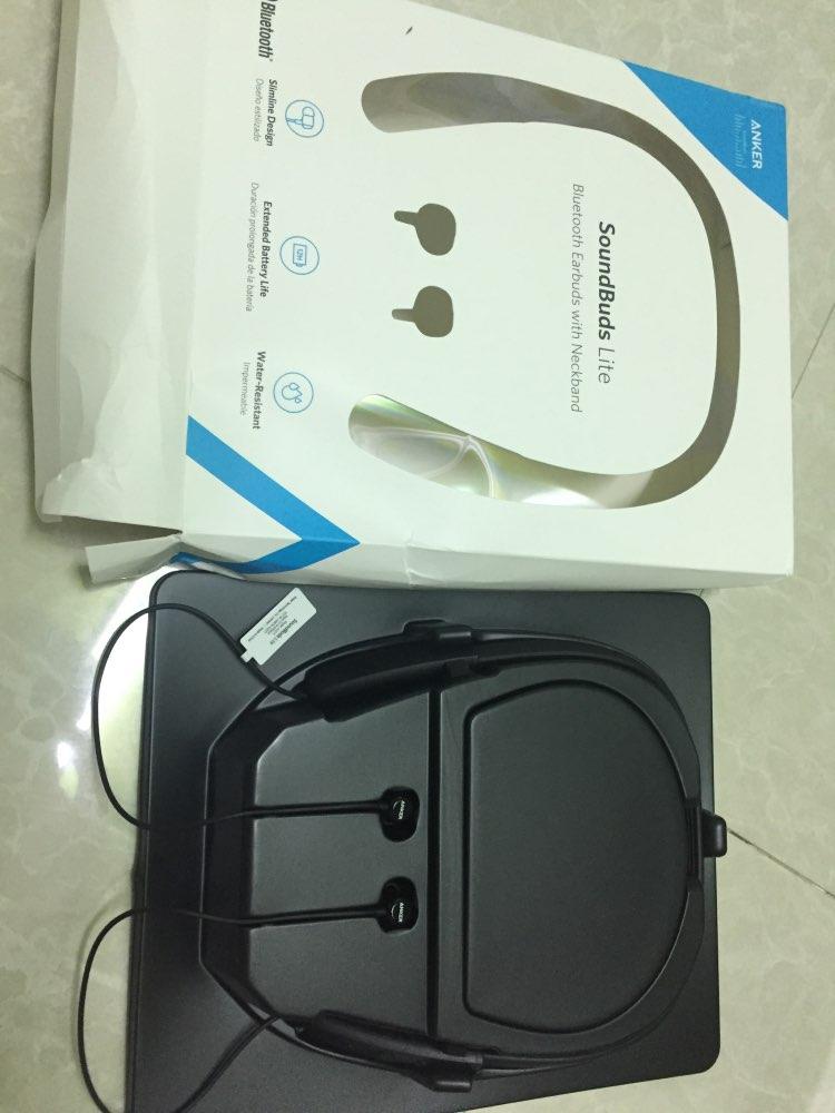 1e571864289 Anker SoundBuds Lite Bluetooth Headphones Builtin Mic Wireless ...