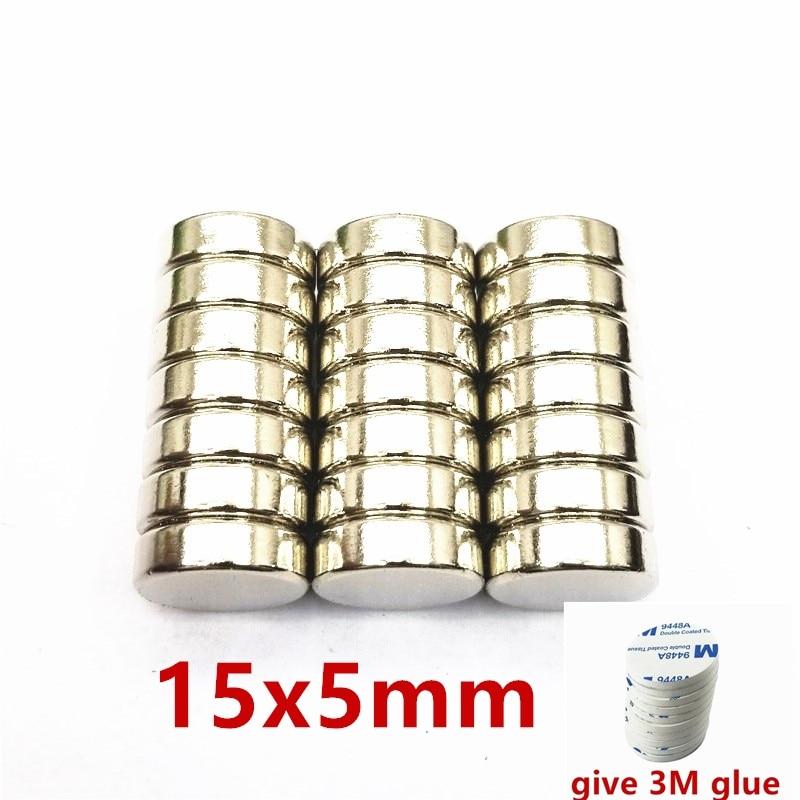 5/10/50PCS 15mm x 5mm Super Strong Round Disc Magnets15*5 15x5 Rare Earth Neodymium Magnet N35 15mm*5mm neodymium magnet New