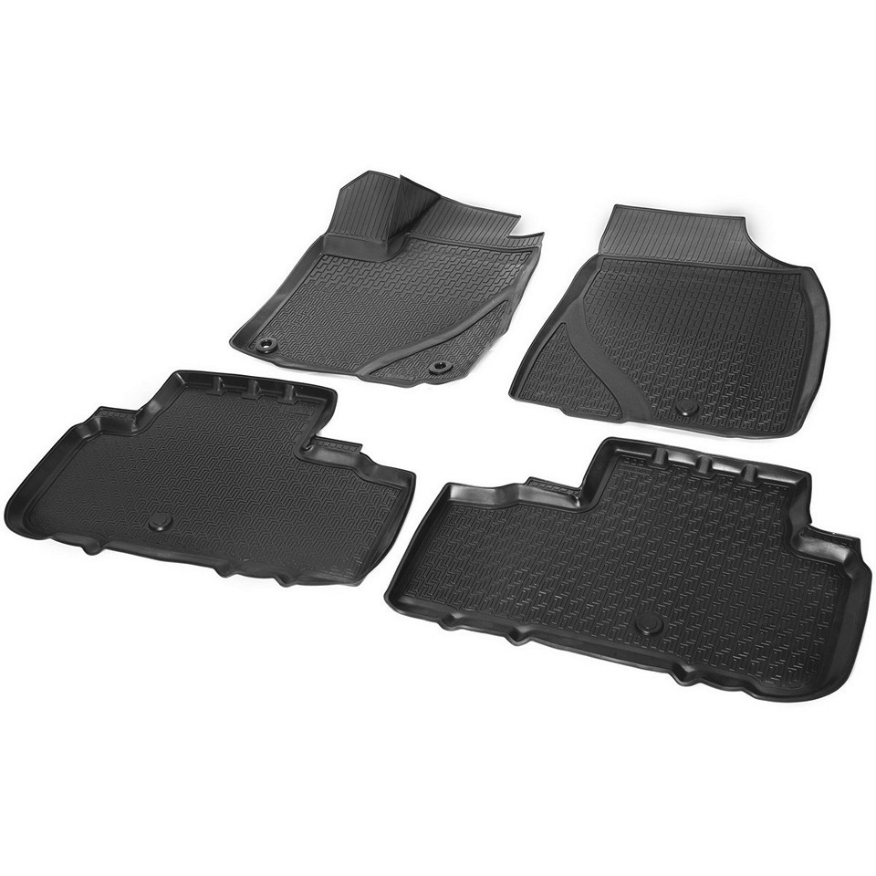 For Toyota Highlander U50 2014-2019 3D floor mats into saloon 4 pcs/set Rival 15703001 custom fit car floor mats for toyota camry rav4 prius prado highlander verso 3d car styling carpet liner ry56