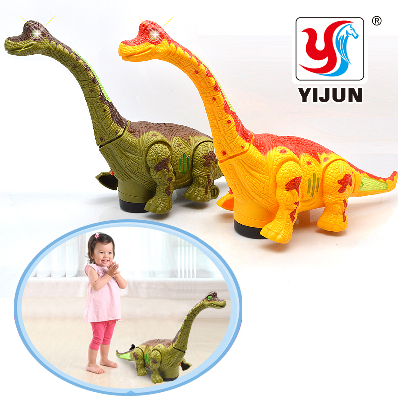 Electric Toy Large Size Walking Dinosaur Robot With Light Sound Brachiosaurus Battery Operated Kid Children Boy Gift 1pcs