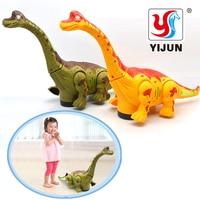 Electric Toy Large Size Walking Dinosaur Robot With Light Sound Brachiosaurus Battery Operated Kid Children Boy