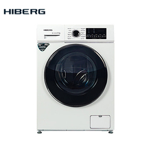 Стиральная машина HIBERG WQ4-610 W, 6 кг загрузки, 1000 оборотов при отжиме, 12 программ стирки, Класс А++, расход воды 48 л. на цикл