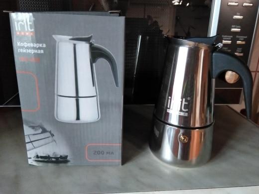 IRH-453 Coffee Maker Geyser 200 ml Stainless steel housing Cafe household Steam pressure Ergonomic design