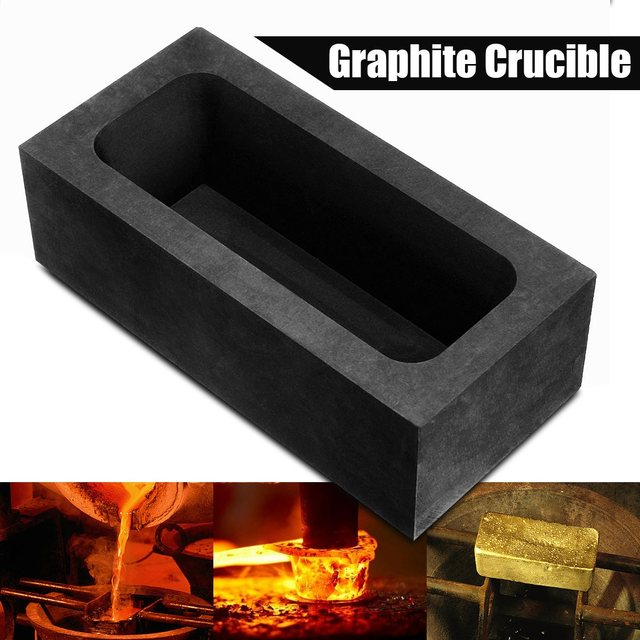 US $14 57 50% OFF|85oz Large Graphite Casting Ingot Mold for Gold Silver  Copper Melting Casting Refining Scrap Bar Crucible Tool Parts-in Tool Parts