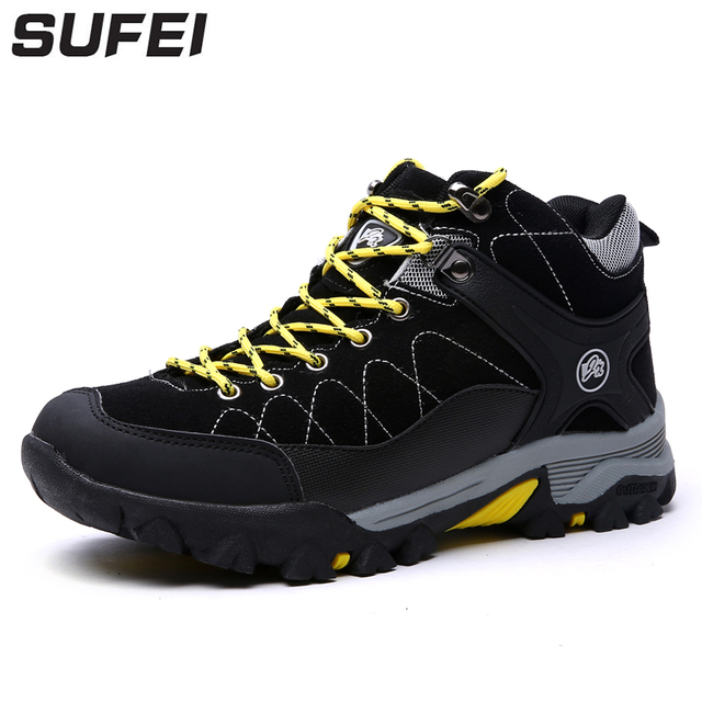 sufei Men Hiking Shoes Athletic Wear-resistant Waterproof Outdoor Mountain Climbing Trekking jogging Boots Trainers