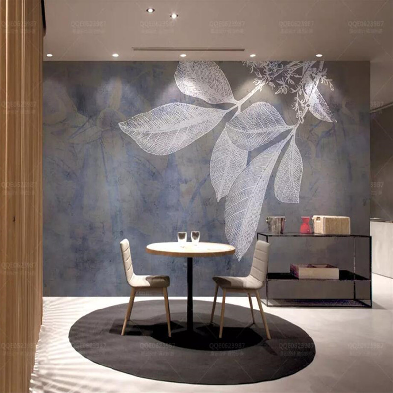 Fashion line leaves Nordic texture TV background wall professional production murals wholesale wallpaper mural poster photo wall in Fabric Textile Wallcoverings from Home Improvement