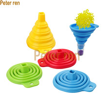 The New Convenient Collapsible Silicone Funnel for Diamond Painting Rhinestone Tools Embroidery Accessories Tool funnel