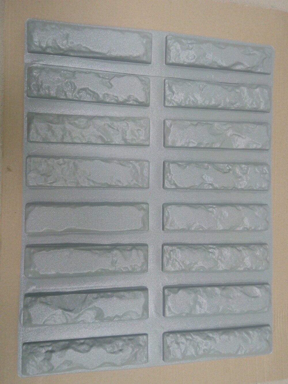 16pcs Plastic Molds for Concrete Plaster Super Best Price Wall Stone Cement Tiles old Brick Decorative