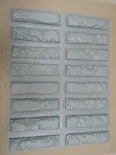"""16 Uds. De moldes de plástico para hormigón, yeso al mejor precio, baldosas de cemento de piedra de pared, moldes de pared decorativos de """"ladrillo viejo"""", nuevo diseño"""