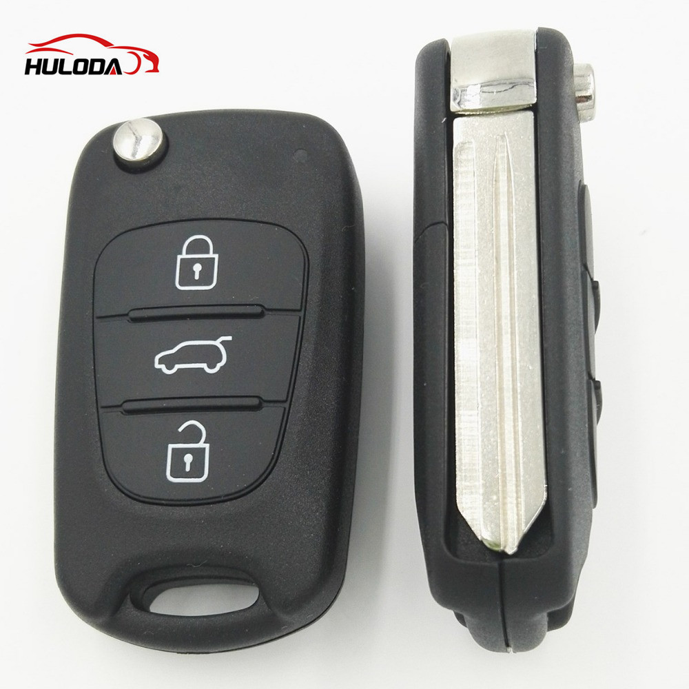 For Hyundai I30 and IX35 3 button flip remote key blank with Right Blade