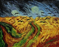 High quality Oil painting Canvas Reproductions Wheat Field With Crows by Van Gogh Painting hand painted