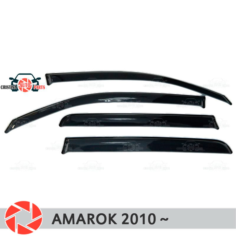 Window deflector for Volkswagen Amarok 2010- rain deflector dirt protection car styling decoration accessories molding carbon door side wing mirror cover rearview mirror protector cover for volkswagen vw tiguan 2010 2013 car styling accessories