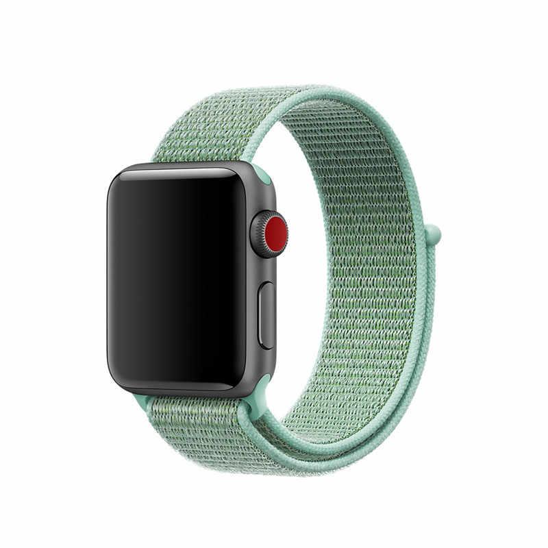 38 مللي متر 42 مللي متر الفرقة ل apple watch سلسلة 1 2 3 المنسوجة النايلون الفرقة حزام ل iWatch الملونة نمط الكلاسيكية مشبك