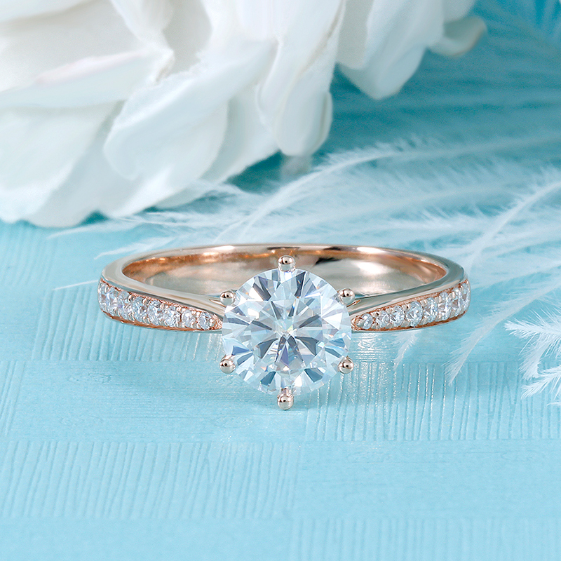 moissanite rose gold emgagement ring (4)
