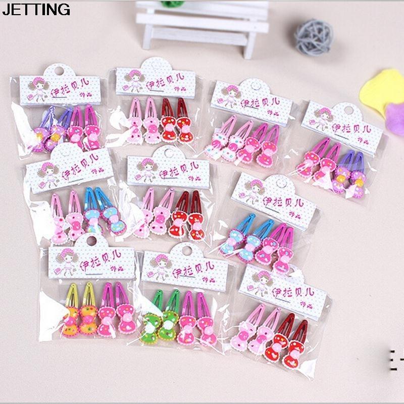 4pcs/lot Hair Clips Flower Hairpin Girl Ribbon Bow Kids Satin Bowknot Hairpin Hair Decorations