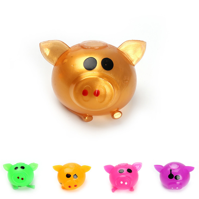 1PC Anti Decompression Splat Ball Vent Toy Venting Ball Sticky Smash Water Ball Anti Stress Goods Various Types Pig Toys