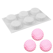 Flower Tray Shaped Cakes 3D Silicone Molds Baking Mousse Truffle Brownies Moon cake Mold Kitchen Accessories