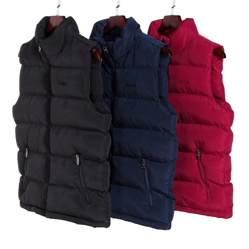 2018 Beiläufige Weste Männer Winter Ärmellose Jacken Männlichen Neue Fashion Solid Weste Männer Herbst Westen Warm Outwear Plus Größe M-6xl