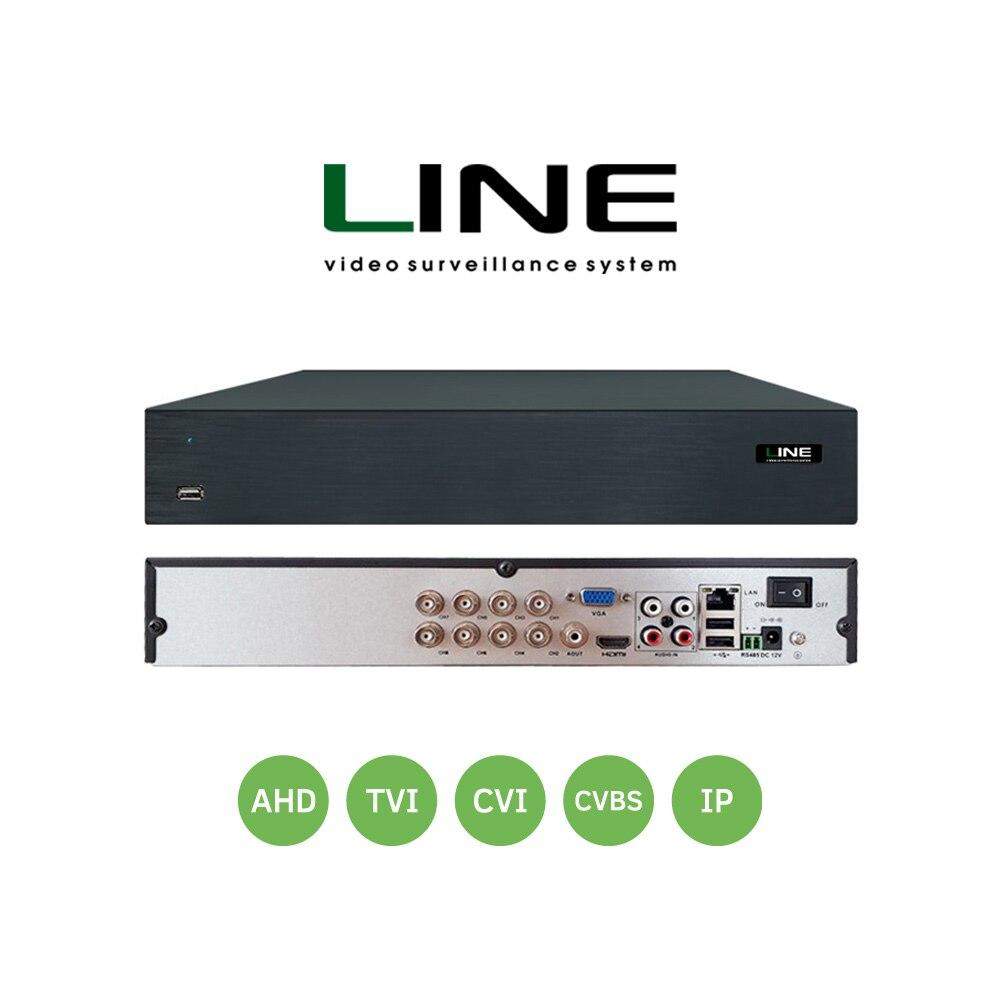 Ligne XVR 8 canaux enregistreur vidéo réseau Ahd Dvr 8Mp intelligent Onvif 2 Sata 8ch Nvr pour système de Surveillance vidéo Hvr