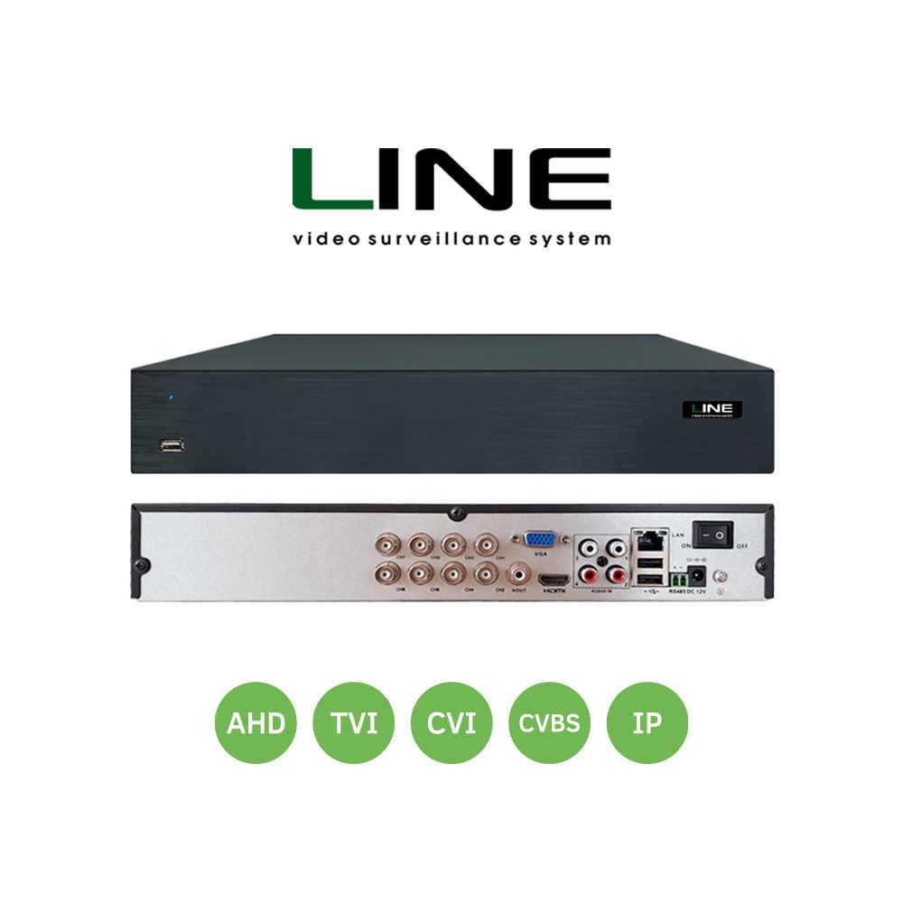 Line XVR 8 TV Network Video Recorder AHD DVR 8Mp Smart ONVIF 2 SATA 8ch NVR untuk Sistem Video Surveillance hvr